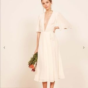 "Reformation NWT ""Rhodes"" Dress in White"